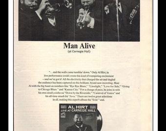 "Vintage Print Ad August 1965 : Al Hirt Live At Carnegie Hall RCA Records Wall Art Decor 8.5"" x 11"" Advertisement"
