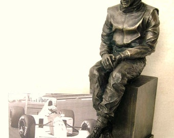 Ayrton Senna Limited Edition Figurine By LEGENDS FOREVER Formula 1 F1 Motor Racing Homage Figure Statue Collectors Piece Only 1000 Made