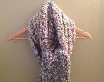 Chunky crochet scarf - multicolor
