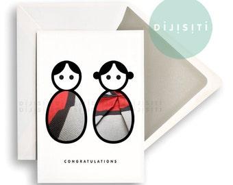 Congratulations. Digital Download. Printable Greetings Card. Inspirational. Wall Art. Includes A4. JPEG.