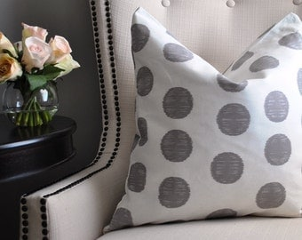 Polka Dot Pillow, Throw Pillow,  White and Grey Pillow Cover, Decorative Pillow, Grey Toss Pillow, Home Decor, PD1