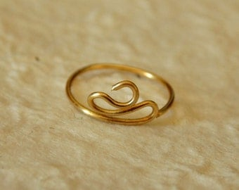 14k Gold Fill Nose Ring or sterling silver nose ring, unique nose ring