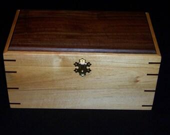 Maple-Walnut-Jewelry-Keepsake-Box-With-Mirror