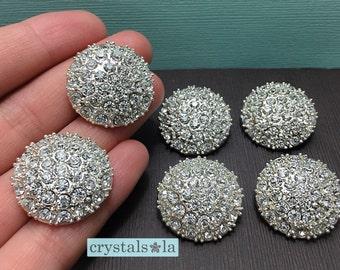 Crystal Buttons - BT73 - 6pcs