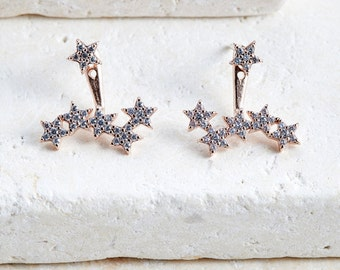 Constellation Earrings star earrings gold/white gold/ rose gold jacket earrings trending earrings