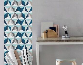 Kaleidoscope Geometric Pattern Wallpaper / Simple Removable Wallpaper / Geometric Wall Mural / Geometric Wallpaper - CM020