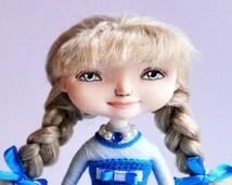 The souvenir interior doll Zlata OOAK doll Art doll Handmade doll Collecting doll Interior doll Dressed doll Cloth doll Blond doll