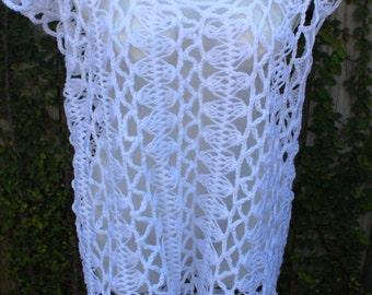Crochet Cover Up - White