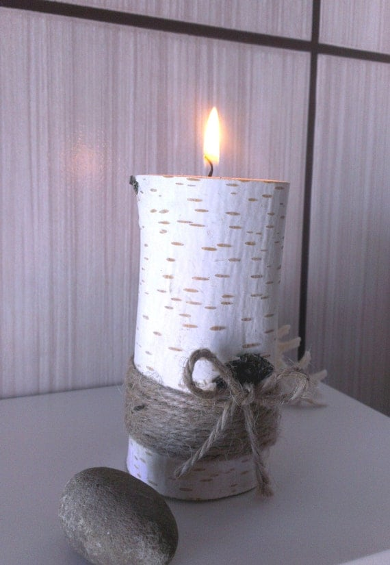 Items similar to birch tree branch candle holders wooden
