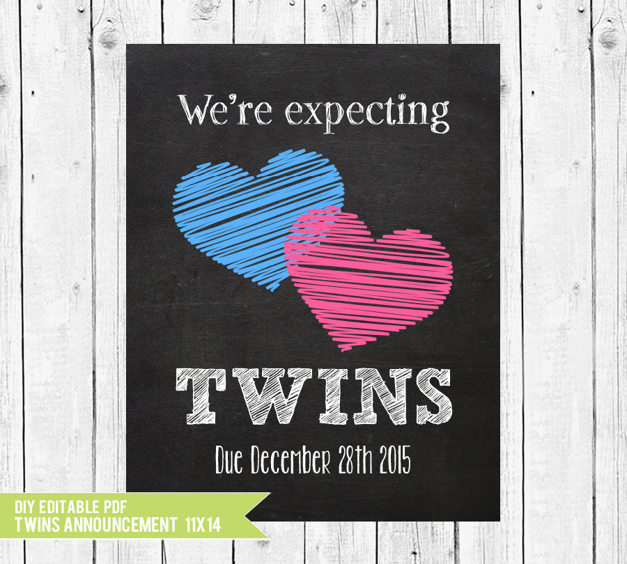 twins pregnancy announcement      we u0026 39 re expecting twins