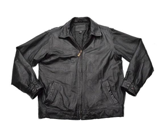 vintage leather jacket knightsbridge black by indieclubvintagellc. Black Bedroom Furniture Sets. Home Design Ideas