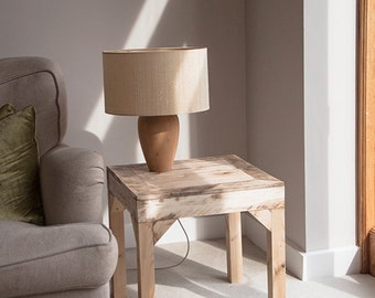 "Wooden Side Table ""The Acorn"" - Handmade Pallet Furniture"