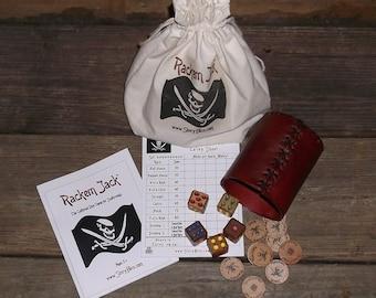 Rackem Jack - The Cutthroat Dice Game for Scallywags - Novel Handmade Game
