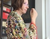 Sleeves - Shrug - Sheer Abstract Gold Kimono Style