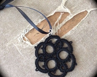 Tatted Lace Pendant - Threes