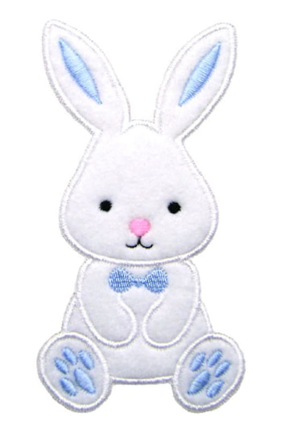 Easter bunny applique embroidery