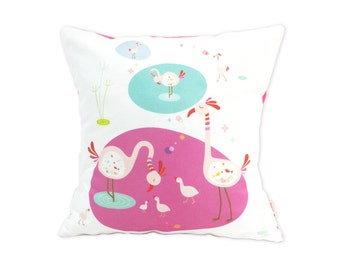 Limited Edition Flamingo 13 Inches Square Pillow