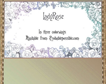 Ladyrose romantic calling cards for you to print