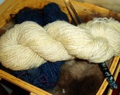 Handspun-of-the-Month Club, a Fiber CSA: 6-Month Subscription, Natural Colored Fiber, Made in Florida
