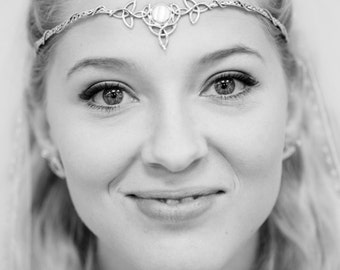 Celtic Wedding Bridal Circlet, Irish Sterling Silver Circlet, Handmade Bridal Gemstone Tiara, OOAK, Bespoke Wedding Circlet, Irish Wedding