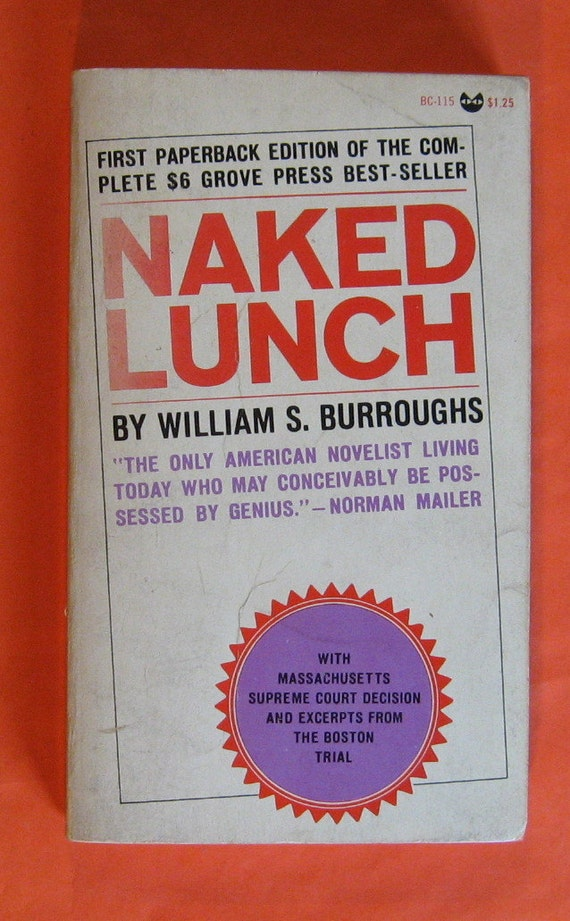 NAKED LUNCH by William S. Burroughs -1st/later UK -HCDJ