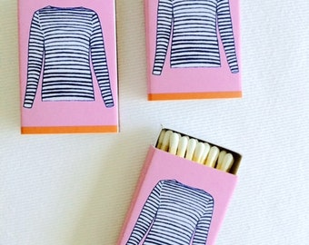 FRENCH STRIPED SHIRT Matchboxes