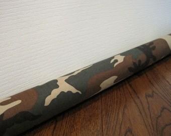 DOOR draft guard, camouflage door draft stopper, camo draft snake