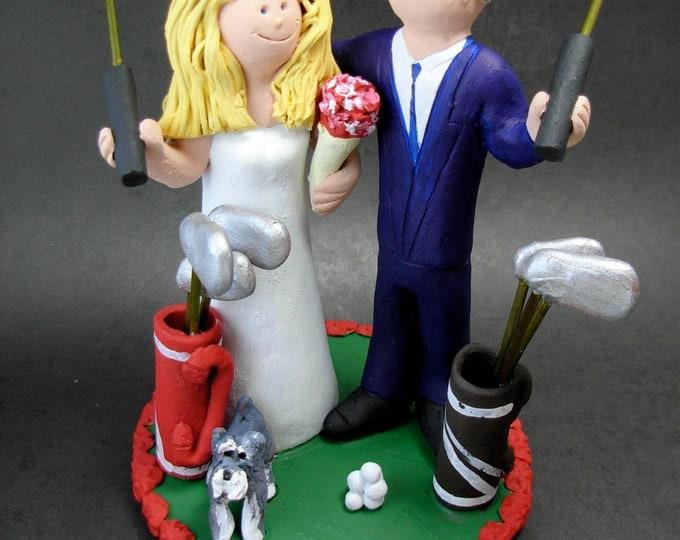 Golfer's Wedding Cake Topper, Golfing Wedding Cake Topper, Golfing Bride Wedding Cake Topper, Golf Destination Wedding Cake Topper