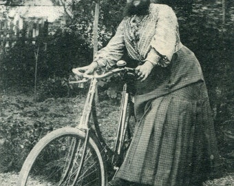 RPPC Madame Delait the Bearded Lady