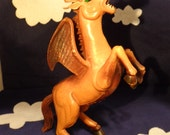 Imperial 1983 rubber toy - Vintage Fantasy Pegasus Dragon Horse with Wings
