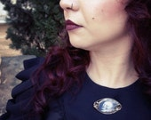 Mourning Jewelry - In the midst of Life Brooch - Victorian Style