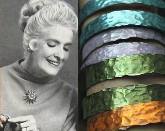 Custom SMASHED metal knitting needle bracelet - JEWELRY from Grandma's Vintage Knitting Needles - Personal Heirloom Jewelry