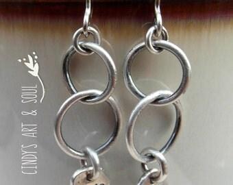 Fine Silver Hoop Earrings Bloom