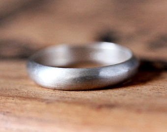Silver mens Wedding Band silver, 5mm half round silver band, unisex wedding band, hers and hers rings, recycled silver ring, made to order
