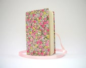 Colorful flowers journal notebook handmade journals lined journal grey pink journal flowers journal diary writing journal for women or girls