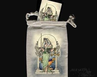 Justice Tarot bag drawstring pouch