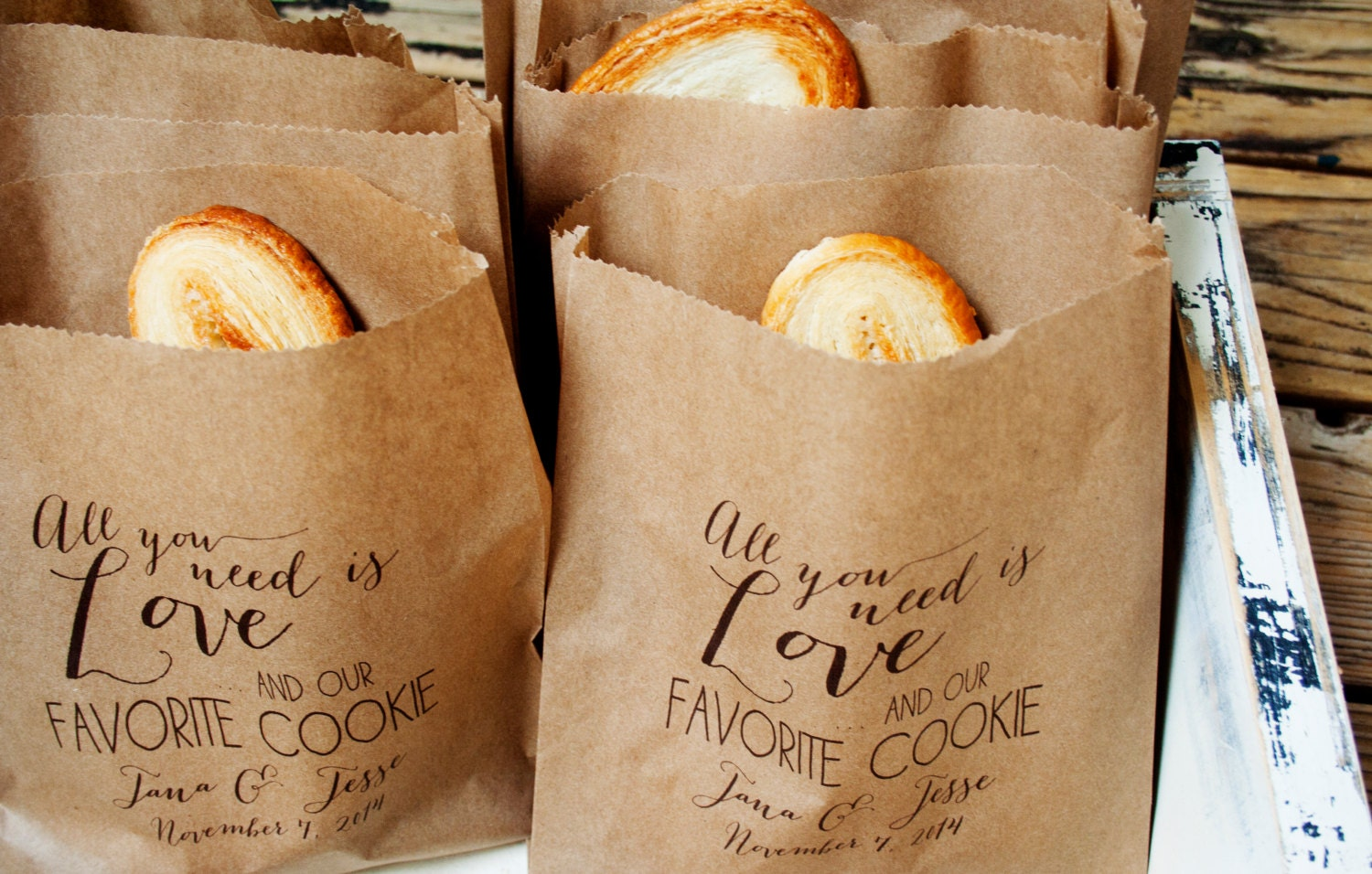 Cookie Favor Bag Wedding Cookie Treat Bag Love And By Mavora