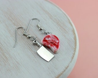 Steak and Cleaver Earrings