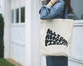 50% off SALE no. 620 - all I care about is pizza screen printed tote