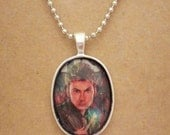 Doctor Who 10th Doctor recycled comic book pendant