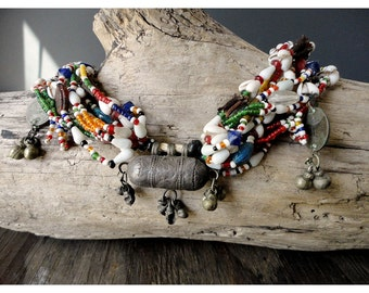 African Wedding Necklace - Antique