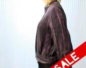 15BUCK SALE - Striated washy purple SILK blouse - Vintage button up