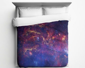 Milky Way, Galaxy Duvet Cover - Made in USA