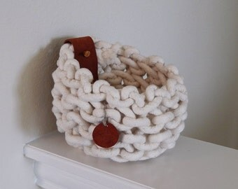 Natural Organic Knit Basket/Bowl