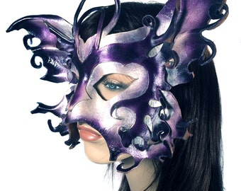 CLEARANCE SALE - Faerie Queen - Leather Mask