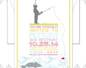 File Fishing Birthday Birthday Invite - Little Boy Birthday Invitation - Fishing Birthday Party Invite - Fish Invite - Little Boy Fishing Pa
