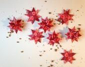 SALE Set of 8 Mini Paper Stars