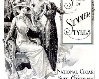 National Cloak and Suit Company 1913 Summer Catalog E-book-  1910s PDF Download Historical Fashion