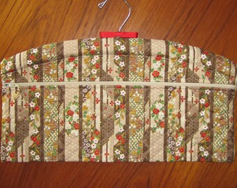 Floral Stripe Design Closet Hanger Organizer Quilted Asian Japanese Fabric