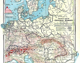 Central Europe Map European Countries Traveled Switzerland Physical